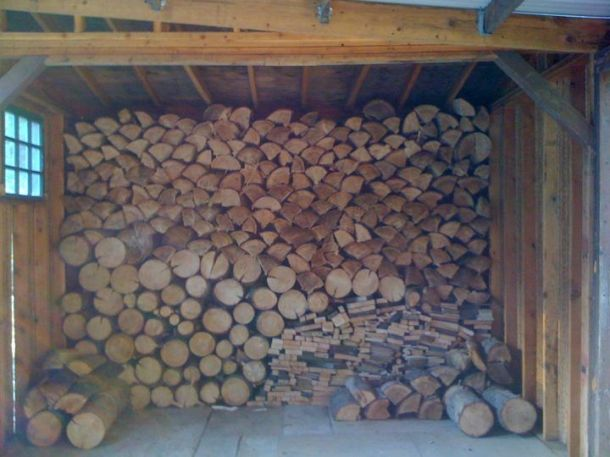The beginning of our wood stash